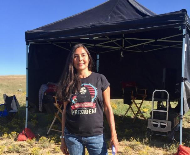 Yvonne Russo on location in Santa Fe